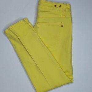 CAbi Size 2 Yellow Skinny Jeans
